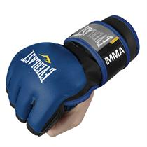Black Leather Grapplers Gloves